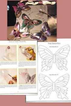 Mariposas,mariposas de botellas de pet para decorar!!!