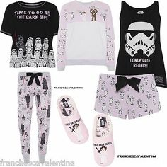 DISNEY STAR WARS Ladies Pyjamas Leggings T Shirt Shorts Slippers Primark UK  6-20. Pajamas Women ... 7ef9e6555