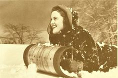 Image shared by cherry lola. Find images and videos about girl, vintage and winter on We Heart It - the app to get lost in what you love. Vintage Sled, Vintage Winter, Vintage Decor, Vintage Christmas, Vintage Cards, Vintage Photographs, Vintage Photos, Winter Images, Reasons To Smile