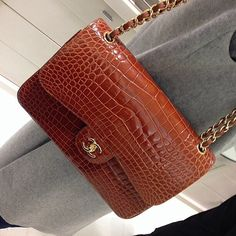 Beautiful Alligator Classic CHANEL Flap Bag.