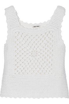 Miu Miu | Crocheted cashmere top | NET-A-PORTER.COM