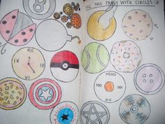 wreck this journal | Tumblr Cover this page with circles.