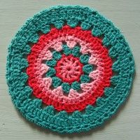 Crochet Mandala Wheel made by Gabriela, Argentina, for yarndale.co.uk
