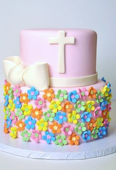 Baptism Flowers by thecakemamas, via Flickr