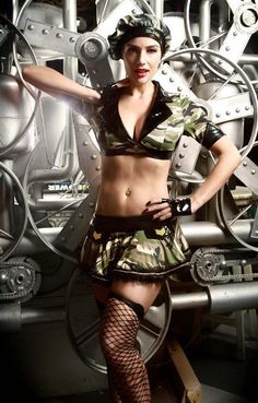 9851 Hot Sale America Women Military Uniform Sexy Separated Type Costume New Army Series Sexy Halloween Costume Camo Roleplay