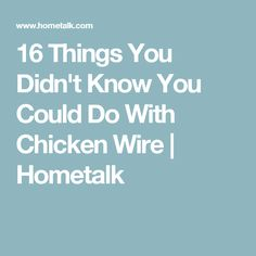 16 Things You Didn't Know You Could Do With Chicken Wire   Hometalk