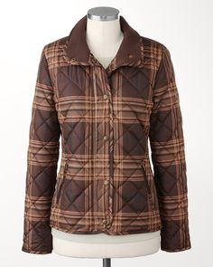 Quilted plaid coat | #ColdwaterCreek
