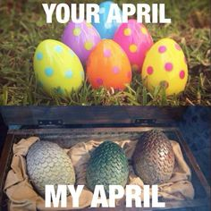 Game of Thrones season premieres always in the spring. Haha