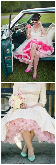 Here's another way to give your gown more of a personality. What color would you wear?