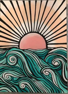 Items similar to Graphic Ocean Painting on Etsy - Aesthetic painting ideas - Aesthetic Aestheticpaintingideas Etsy Graphic Ideas Items ocean Painting similar # Aesthetic Painting, Aesthetic Art, Aesthetic Outfit, Aesthetic Clothes, Aesthetic Black, Aesthetic Vintage, Aesthetic Drawings, Peach Aesthetic, Aesthetic Pictures
