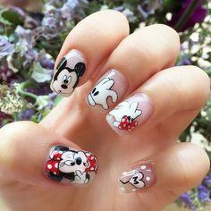 449 Mejores Imágenes De Uñas Dibujos Animados Disney Nails