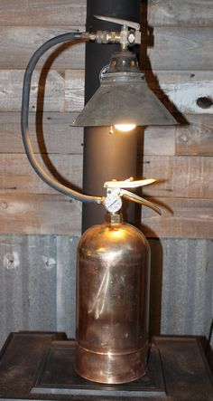 Old Brass US Air Force Fire Extinguisher Table Lamp. $200.00, via Etsy.