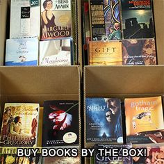 Boxed Shelf Filler (Books by the Box). Each large Books by the Foot box is stuffed with modern (barcoded) books in good to new condition. Mostly softcovers with some thin hardcovers, these books are mostly fiction. I Love Books, Books To Read, Children's Books, Reading Lists, Book Lists, Box Shelves, Shelf, Painting Bookcase, Wedding Favors