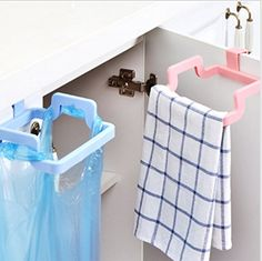 MosQuick Plastic Garbage Bag holder Dustbin Towel rack for Kitchen bathroom Office Schools Clinic- Mixed colour (1 pc) | Home and Kitchen Kitchen and Home Appliances Small Appliance Parts and Accessories Small Kitchen Appliances | Best...