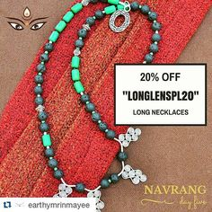#Repost @earthymrinmayee  Gorgeous long necklaces to make a statement... Get them now with today's special offer... Take 20% off any order of long length necklaces... Use coupon code LONGLENSPL20 at checkout... No minimum purchase necessary.  Hurry  offer expires in 24 hours!  #earthymrinmayee #handmadebymrinmayee #handmadejewelry #silver #sterlingsilver #silverjewelry #gemstones #silvernecklaces #thaikarensilver #hilltribesilver #finesilver #mrinmayeeturnsone #firstbirthday #oneyearold…