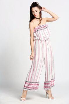 Vintage Women Ruffles Long Jumpsuit ..!! Shop Online at www.pescimoda.com