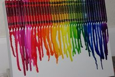 DIY Craft Projects For Teens -   Melted Crayon Art