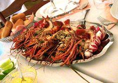 Brazilian lobsters served at Auberge de la Distillerie near Basse-Terre, Guadeloupe.