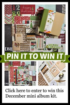 You can WIN an amazing mini album kit for documenting your December! Click to find out how: http://scrapinspired.com/?p=7250