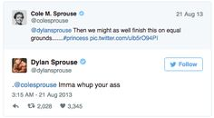 Give it up for good old-fashioned brotherly love! | Community Post: 19 Times The Sprouse Twins Roasted Each Other On Twitter