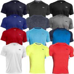 Under Armour 2016 Mens UA Tech SS T Shirt HeatGear Gym Short Sleeve Training Tee