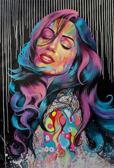 Noé Two is a French contemporary artist who discovered painting through the Street Art and paints frescoes with a figurative style. 3d Street Art, Urban Street Art, Amazing Street Art, Street Art Graffiti, Street Artists, Urban Art, Amazing Art, Graffiti Artists, Graffiti Girl