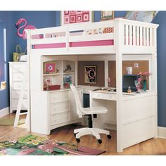 loft bed with a desk would be good for Gabby as she grew then she could do her homework in her room