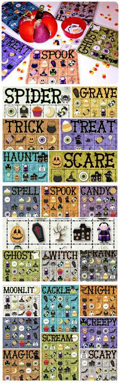 halloween words Free Halloween Games, Halloween Bingo Cards, Halloween Class Party, Halloween Words, Halloween Items, Fall Halloween, Halloween Crafts, Bingo Set, Calling Cards