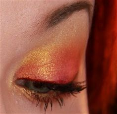 Sunset eyeshadow.