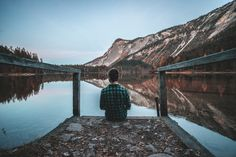 The Solitude of thinkers. - A wonderful excursion at lake Tovel, Val di Non,Trentino Alto Adige, Northern Italy.
