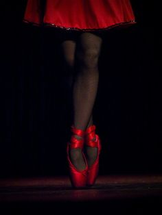 There is something about red ballet shoes.
