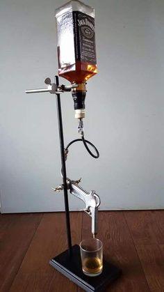 Pin by Austin Dodd on Garage/man cave/grilling in 2019 Whiskey Dispenser, Alcohol Dispenser, Drink Dispenser, Man Cave Room, Man Cave Home Bar, Mini Bars, Diy Crafts To Do, Vintage Bottles, Pipe Lamp