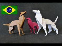 Origami: Cachorro - Instruções em português PT BR - YouTube                                                                                                                                                                                 Mais