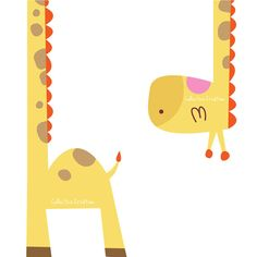 Two Part Giraffe Digital Clipart Personal by CollectiveCreation, $4.00
