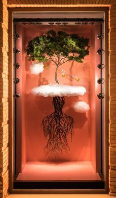 """HERMES, """"A tree with strong roots laughs at storms"""", creative by Korean artist Jinhan Yi, pinned by Ton van der Veer"""