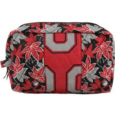 Ohio State Buckeyes Fabric Cosmetic Bag from Walmart... I actually think this is cute!