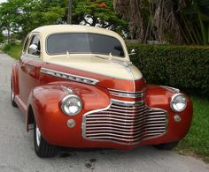 red and tan 1941 Chevy
