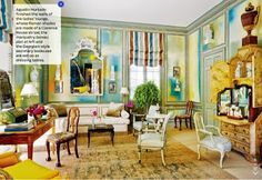 Architectural Digest August 2014 Review Miles redd pastel library