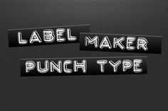 Ad: Label Maker Punch Type by jeffportaro on Full alphabet and number set of label maker punch type Photoshop brushes for creating styled text, backgrounds, textures, other graphics, Business Illustration, Pencil Illustration, Typography Love, Photoshop Brushes, Photoshop Actions, Layer Style, Paint Markers, Photography Website, Business Card Logo
