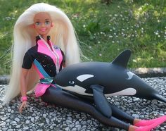 90s barbie | AHHHHH Loved this barbie with the change-able legs and orca whale!