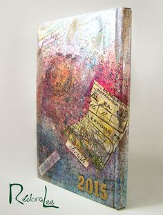 Canvas Journal Book Cover (Back/Spine View) Mixed Media - Spray mists