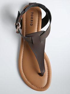 939442b4e08 Basic T-Strap Sandals (Wide Width)Basic T-Strap Sandals (Wide
