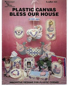 Plastic Canvas House Patterns | Bless Our House Plastic Canvas Pattern Book…