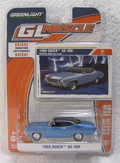 GREENLiGHT GL Muscle 1969 Buick GS 400 1:64 diecast w/Trading Card series 7 #GreenLight #Buick