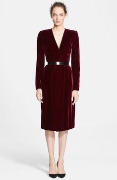 Oscar de la Renta Velvet Sheath Dress available at #Nordstrom