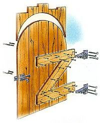 How to Build a Driveway Wood Gate | eHow