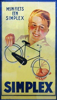 Jacob Jansma - Mijn fiets een Simplex - ca. 1935 - W.B.