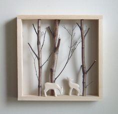 Geweldige omlijsting voor onze houten dieren van Holztiger