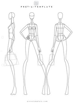 Fashion Figure Templates Prêt à Template