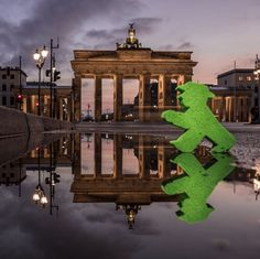 Amazing photo! Thanks to my friend @zerletti for capturing this! #Berlin, my city! #LittleGreenMan #AmpelmannWorld #FollowAmpelmann #ampelmannLifestyle